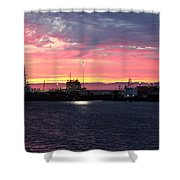 Port Angeles Harbor Thirteen Shower Curtain
