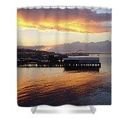 Port Angeles Sunset Shower Curtain