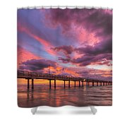 Port Aransas Texas Sunrise 25 Shower Curtain