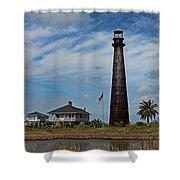 Port Bolivar Lighthouse Shower Curtain