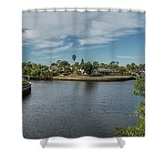 Port Charlotte Adhenry Waterway From Midway Shower Curtain