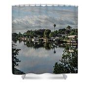 Port Charlotte Elkham Waterway From Tamiami Shower Curtain
