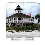Port Charlotte Harbor Lighthouse Shower Curtain