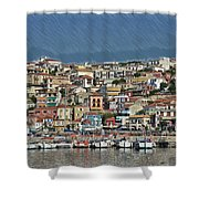 Port City Parga Greece - Dwp1163344 Shower Curtain