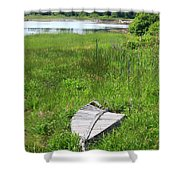 Port Clyde Boat Shower Curtain