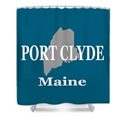Port Clyde Maine State City And Town Pride  Shower Curtain