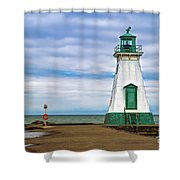 Port Dalhousie Lighthouse 1 Shower Curtain