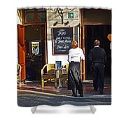 Port De Soller Shower Curtain