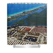 Port Everglades Florida Shower Curtain