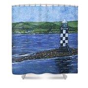 Port Glasgow, Perch Lighthouse Shower Curtain
