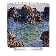 Port Goulphar Belle Ile Brittany Shower Curtain