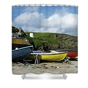 Port Isaac Boats Shower Curtain