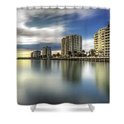 Port Melbourne Dreaming Shower Curtain