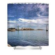 Port Melbourne Harbour Shower Curtain