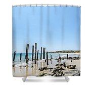 Port Noarlunga Pylons Shower Curtain