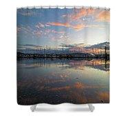 Port Of Anacortes Marina At Sunset Shower Curtain