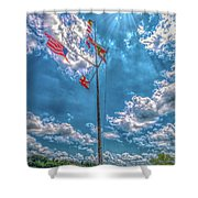 Port Of Florence Shower Curtain