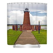 Port Of Kissimmee Lighthouse In Central Florida Shower Curtain