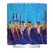 Port Of Malaga Shower Curtain