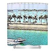 Port Of Miami - Miami, Florida Shower Curtain