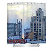 Port Of Montreal Skyline Shower Curtain