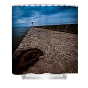 Port Of Newcastle Shower Curtain