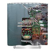 Port Of Oakland Aerial Photo Shower Curtain