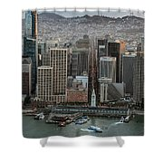 Port Of San Francisco And Downtown Financial District Shower Curtain