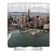 Port Of San Francisco And Downtown Financial Districtport Of San Francisco And Downtown Financial Di Shower Curtain