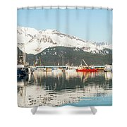 Port Of Seward Alaska  Shower Curtain