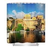 Port Of Sorrento, Southern Italy Shower Curtain