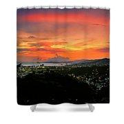 Port Of Spain Sunset Shower Curtain