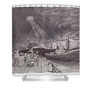 Port Of Tacoma Wa Waterfront Shower Curtain