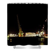 Port Of Tampa At Night Shower Curtain