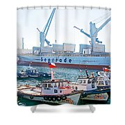 Port Of Valpaparaiso-chile Shower Curtain