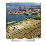 Port Of Vancouver Bc Shower Curtain