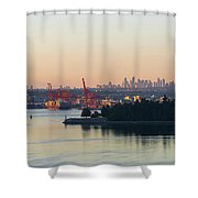 Port Of Vancouver By Stanley Park Shower Curtain