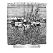 Port Orchard Marina Shower Curtain
