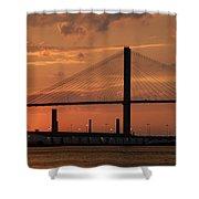 Port Savannah Sunset Shower Curtain