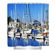 Port Townsend Harbor Shower Curtain