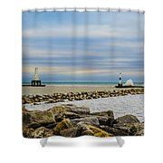 Port Washington Light 6 Shower Curtain