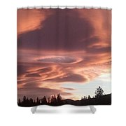 Portal In The Sky Shower Curtain