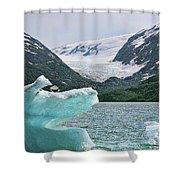 Porter Glacier Alaska  Shower Curtain