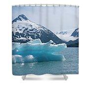 Porter Glacier Alaska II Shower Curtain