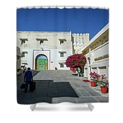 Porter, Udaipur, Rajasthan Shower Curtain