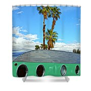Portholes Palm Springs Shower Curtain
