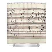 Portion Of The Manuscript Of Beethoven's Sonata In A, Opus 101 Shower Curtain
