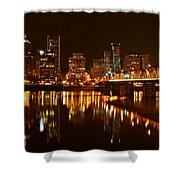 Portland At Night Shower Curtain