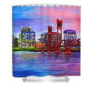 Portland City Lights #106 Shower Curtain