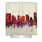 Portland Cityscape 09 Shower Curtain